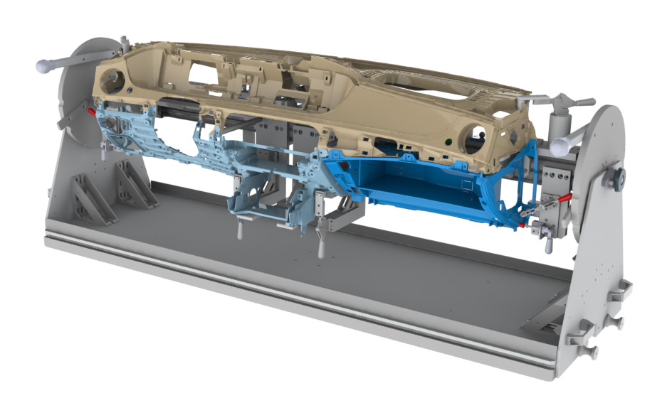 Ansicht als 3D Modell, Original siehe Montagelinie